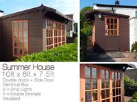 Summerhouse - 3 Doors, Electrical box, Lights, etc. summer house