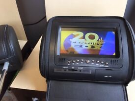 "Dvd Player Monitor 2+7"" Headrest with zipper cover,USB/SD Blac"