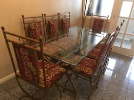 Glass / Bronze Dining & Coffee Tables (plus Matching Mats & Coasters)