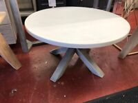 New grey Docklands built round coffee table W70xD70xH40cm £169 LAST ONE