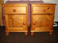PINE BEDSIDE TABLES,SOLID WITH DOVETAIL DRAWERS PLUS