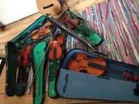 3/4 size violins