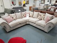 Brand New Beige Corner Sofa. Free Delivery Up To 25 Miles. In Stock And Ready For Delivery