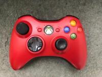 Xbox 360 red wireless controller