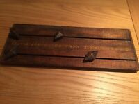 Vintage snooker or darts score board, solid wood, lovely piece