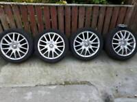 "Vw alloy wheels 17"" mk5 golf gt 5x112 pcd"