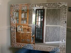 Large Modern/Contemporary Silver mirror