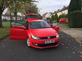 2013 LOVELY VW POLO RED MATCH 1.2 PETROL 1 YEAR MOT CAT C LOW MILEAGE 11000
