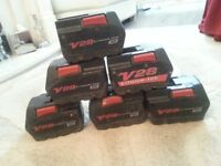 Milwaukee V28 batteries spares or repairs