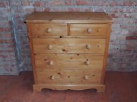 5 Drawer Welsh Chest with dovetail joints finished with waxed surface (Delivery)