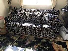 Duresta large 3 piece suite 2 4 seater sofas & chair Rrp £25,000