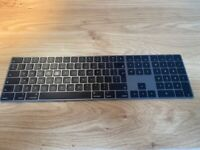 Apple extended keyboard and Magic Mouse 2, space grey, little used