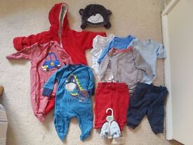 Baby Boy Clothes Autumn / Winter Bundle 0-6 Months, excellent condition, (with some Next items)