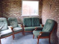 2 seater sofa + 3 chairs