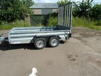"""Indespension 10'1"""" x 5'7"""" trailer with rear loading ramp"""