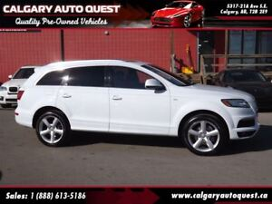 2014 Audi Q7 3.0T Technik S-line AWD/NAVI/B.CAM/3RD ROW/LEATHER