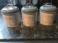 Teas coffee sugar storage