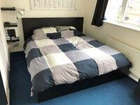 Super King Bed - IKEA Malm Black