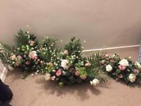 Set of 3 matching flower arrangements