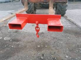Forklift lifting jib frame with hook 2.5 ton tractor telehandler