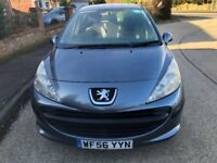 2006 PEUGEOT 207 5 DOOR HATCHBACK, 1400CC ENGINE, ALLOYS. C/D PLAYER. LONG MOT CHEAP TAX.