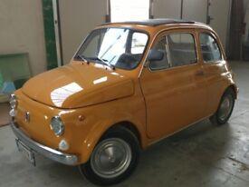 FIAT 500F 1967 FULLY RESTORED UNIQUE COLOR