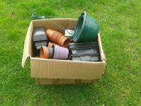 Box of plant pots - various sizes