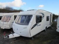 Sterling Europa 570 6 berth fixed end bunks touring caravan 2011