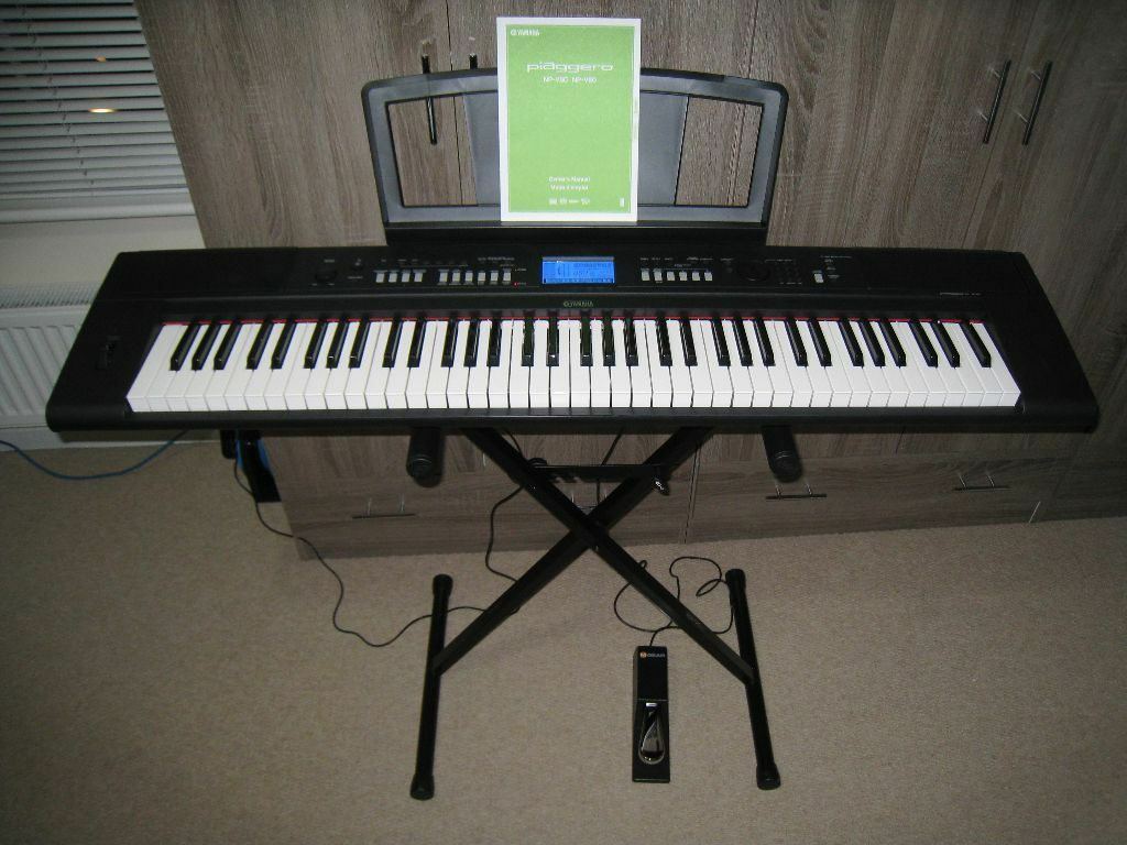 yamaha npv60 keyboard stand rtx sustain pedal m gear soft case in melton mowbray. Black Bedroom Furniture Sets. Home Design Ideas