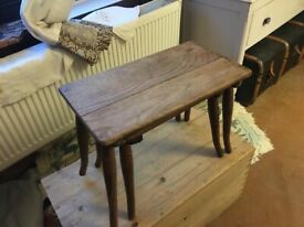 Antique, oak nesting tables small bedside or side table coffee table etc