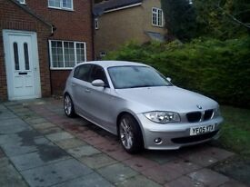 sliver BMW120d sport 6 gear speed clean in and out