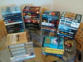 43 ADVENTURE/ACTION/THRILLER HARD BACK BOOK'S
