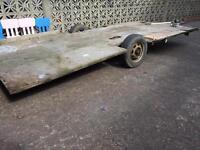 4.2m x 1.95m galvanised trailer
