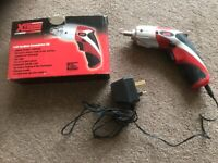 CORDLESS SCREWDRIVER AS NEW LITHIUM BATTERY LED LIGHT INCLUDES CHARGER