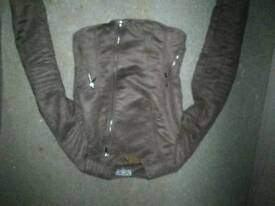 Ladies size 10 suede bikers jacket