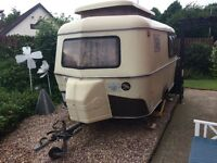 Eriba Pan 2 berth Caravan 1985 retro