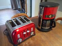 MATCHING RUSSELL HOBS COFFEE MACHINE AND TOASTER! BARGAIN PAIR