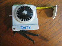 Deluxe Model Terry Lawn Bowls Measure with double scoring dial and calipers. Excellent condition.