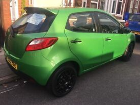 Mazda 2 Green, 1.3ltr 2010 Plate, LOW MILEAGE