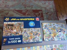 Jan van Haasteren - 2 x 1000 Rembrandt Studio and Gallery of Curiosities. Complete