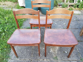 DINING ROOM CHAIRS X3
