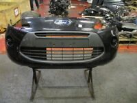 2010 FORD KA FRONT BUMPER IN BLACK *SCRATCHES* #9543