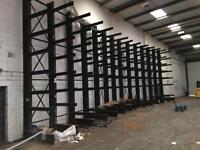 Cantilever racking 19 bays 1000kgs per arm