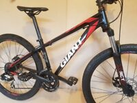 2016 Giant ATX 27.5 2. Disc Brakes. Mountain Bike. XS 14.5 Inch Frame. Excellent Condition.