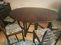 Mahogany Effect Dining Table And Chairs