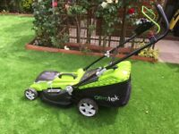 Aerotek Cordless Lawnmower 40V Lithium-Ion 4Ah Battery & Charger Included Cutting Width 40cm LOOK