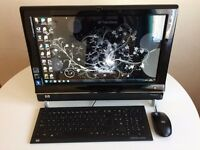 "Excellent All In One PC. Hp TouchSmart 300. Touch Screen. HD 20"", Dual Core, WiFi"