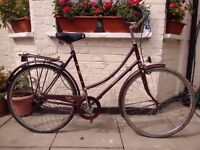 Vintage Raleigh camero single speed bike