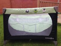 Babies R US travel cot (GREEN)