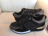 Louis Vuitton Size 8 Trainers Brand New Black/Brown
